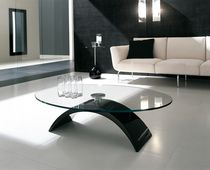 glass contemporary coffee table (marble base) TUDOR  Tonin Casa