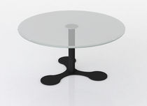 glass contemporary coffee table (metal base) ADELPHI Swanky Design - Premium Contemporary Furniture