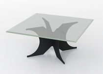 glass contemporary coffee table (metal base) REVEL Swanky Design - Premium Contemporary Furniture