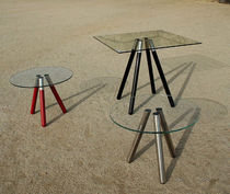 glass contemporary coffee table (metal base) STICKS by Toni Grilo Riluc