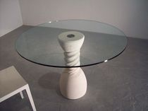 glass contemporary table (stone base) OSO by Michele Gastaldo stonebreakers