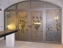 glass double swing door  Brunold Interior Design