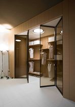 glass folding door for walk-in wardrobe PAVILION LIBRO TRE-P & TRE-Piu