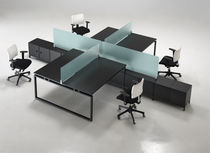 glass office desk partition  Eurosteel Italia