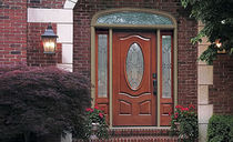 glass pane fitted entrance door in fiber glass CLASSIC-CRAFT&reg; MAHOGANY COLLECTION&amp;trade;  THERMA-TRU DOORS