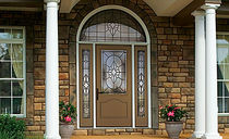 glass pane fitted entrance door in fiber glass CLASSIC-CRAFT&reg; CANVAS COLLECTION&amp;trade; THERMA-TRU DOORS