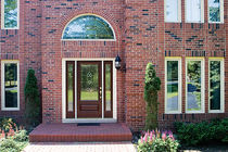glass pane fitted entrance door in fiber glass CLASSIC-CRAFT OAK COLLECTION&amp;trade; THERMA-TRU DOORS