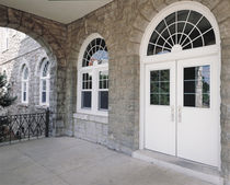 glass pane fitted entrance door in fiber glass FLUSHLINE&reg; ALCOA ARCHITECTURAL PRODUCTS