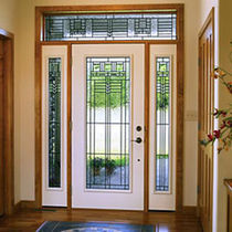 glass pane fitted entrance door in fiber glass  KOLBE