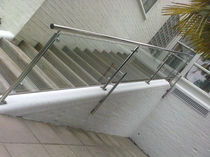 glass railing (with metal handrail)  New Forest Metal Work