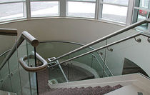 glass railing (with metal handrail)  Couturier Iron Craft