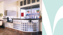 glass reception desk  HY-LITE