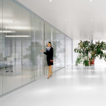 glass removable partition AKUSTIKWALL Fantoni