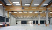 glulam timber beam CARGO LOGISTICS CENTRE HESS-WOHNWERK