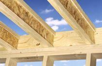 glulam timber I-joist with OSB plate FINNJOIST Metsäwood