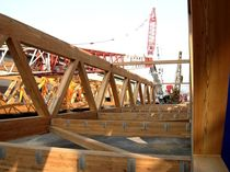 glulam timber lattice beam  HABITAT LEGNO