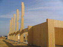 glulam timber post LC HMS Bausysteme