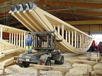 glulam timber wood roof truss  Haring Engineering Ltd