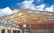 glulam timber wood roof truss 2-SPAN GYMNASIUM, NÜDLINGEN HESS-WOHNWERK