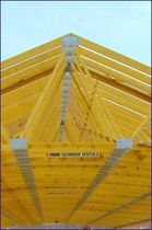glulam timber wood roof truss  Haas