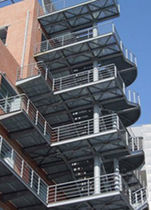 half-turn fire escape staircase in metal  ASCO