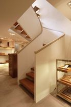 half-turn staircase with a lateral stringer HERMES SS 685 SPIRAL Stairs