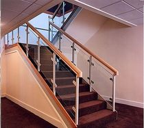 half-turn staircase with a lateral stringer HOOLEY Crescent Stairs