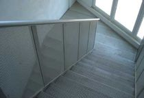 half-turn staircase with a lateral stringer for commercial buildings (metal frame and steps) OFFICE BUILDING ALUSCALAE