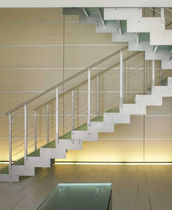 half-turn staircase with a lateral stringer (metal frame and glass steps) E-TR EDILCO