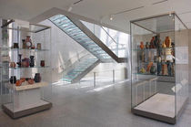 half-turn staircase with a lateral stringer (metal frame and glass steps) GREAT WORKS EDILCO