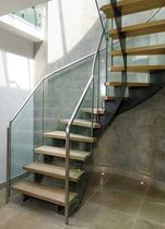 half-turn staircase with a lateral stringer (metal frame and wooden steps) LONGACRE SS 560 SPIRAL Stairs