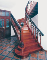 half-turn staircase with a lateral stringer (wooden frame and steps) ART 609 Schmidt Escaliers