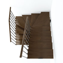half-turn staircase with a central stringer KREA U (H1) IDEALKIT