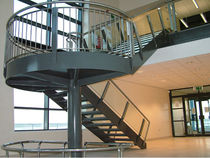 half-turn staircase with a lateral stringer for commercial buildings (metal frame and steps)  Canal Engineering Ltd
