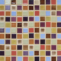 handmade ceramic mosaic tile FIELD TILE : GELATO BLEND Mercury Mosaics