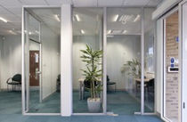 high resistance removable glass partition SYSTEM 3000 SAS International