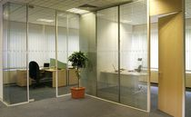 high resistance removable glass partition INVOTEK GLASSWALL ELITE Invotek Partitioning Systems