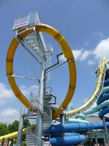 high speed slide for aquatic-parks AQUALOOP Hartwigsen