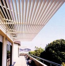 horizontal aluminium solar shading LC FRANGISOLE METALSCREEN