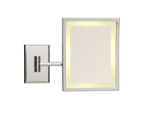 illuminated bathroom shaving mirror SQUARE LM/BS Brot