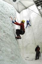 indoor artificial ice climbing wall  ENTRE-PRISES