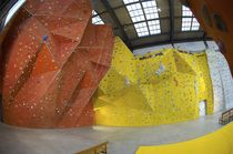 indoor fixed climbing wall GRP UNIQUE TRIANGLES Walltopia