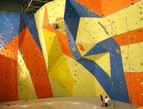 indoor fixed climbing wall TRIANGLES Walltopia