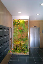 indoor green wall panel CADRE INOX MURS VEGETAUX NATURE