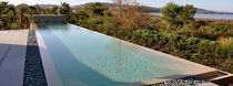 inground concrete infinity swimming pool (lap pool)  WATERWORLD