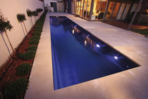 inground concrete swimming pool (lap pool) FAST LANE COMPASS Pools