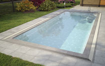 inground one-piece composite swimming pool with infinity effect WANAKA 750 MIRROR LINE LUXE Pools