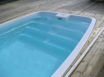 inground one-piece swimming pool (fiberglass) NAKURU 7.00M - WHITE LUXE Pools