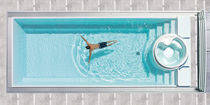 inground overflow one-piece swimming pool (ceramic) SUNDECK INFINITY AURA
