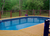 inground wall swimming pool (aluminium) KEYSTONE SERIES Radiant Pools